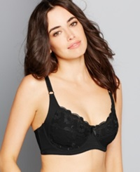 Carnival Full Figure Floral Lace Underwire Bra 511 Black