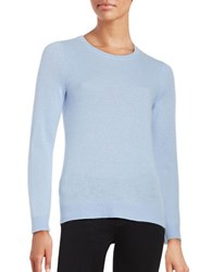 Lord And Taylor Petite Cashmere Pullover Sweater Blue