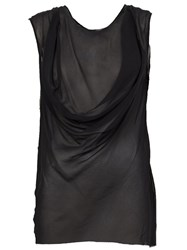 Ann Demeulemeester Layered Sleeveless Top Black