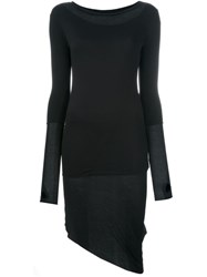 Thom Krom Thumb Hole Asymmetric Hem Dress Black