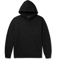 Sasquatchfabrix. Aquatchfabrix. Korouna Embroidered Fleece Back Cotton Blend Jerey Hoodie Black
