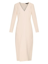 Wes Gordon Ellipse Long Sleeved Crepe Dress