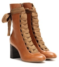 Chloe Harper Leather Boots Brown