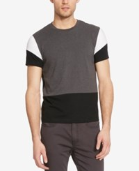 Kenneth Cole New York Men's Colorblocked T Shirt Black Combo