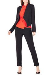 Women's Bcbgmaxazria 'Lloyd' Twill Tuxedo Jacket Black