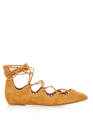 Isabel Marant Leo Lace Up Suede Ballet Flats