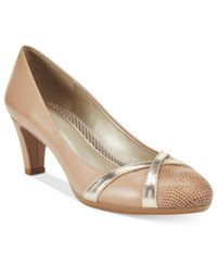 Easy Spirit Nerissa Pumps Women's Shoes Taupe Multi
