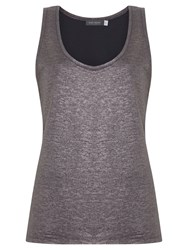 Mint Velvet Mercury Sleeveless Vest Top Grey