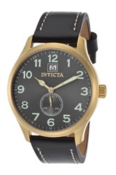 Invicta Women's Leather Watch Black