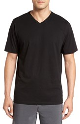 Cutter And Buck Men's Big Tall 'Sida' V Neck T Shirt Black