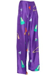 Vionnet Musical Printed Silk Satin Pants