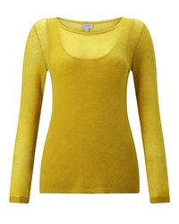 Jigsaw Double Layer Sweater And Vest Yellow
