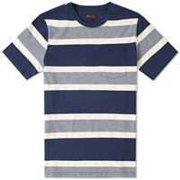 Barbour Kinross Striped Tee Blue