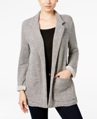 Styleandco. Style Co. Open Front Terry Blazer Only At Macy's Deep Black