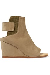 Maison Martin Margiela Suede Wedge Ankle Boots Nude