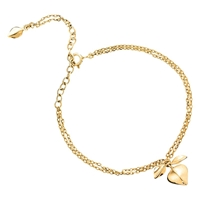 Dinny Hall Bijoux Lotus Bracelet 22Ct Gold Vermeil