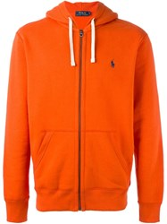 Polo Ralph Lauren Zipped Hoodie Yellow Orange