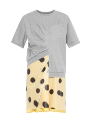 Marc By Marc Jacobs Blurred Dots Print Layered Dress