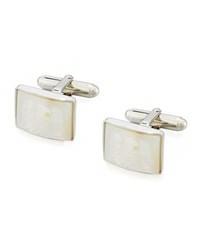 David Donahue Carved Mother Of Pearl Eagle Cuff Links Silver