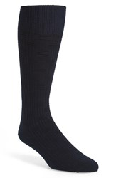 Calibrate Men's 'Basketweave' Socks Navy