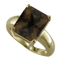 London Road Square 9Ct Yellow Gold Bloomsbury Ring Gold