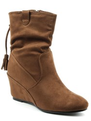 Daniel Storking Wedges Ankle Boots Brown