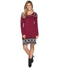 Hatley Sweater Dress Burgundy Nordic Women's Dress