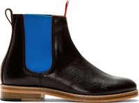 Junya Watanabe Brown And Blue Colorblocked Chelsea Boots