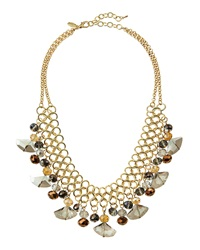 Greenbeads By Emily And Ashley Crystal Chain Mesh Bib Necklace
