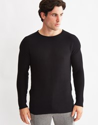Only And Sons Mens Pullover Oversised O Neck With Drop Down Shoulder Black