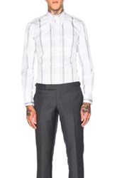 Thom Browne Large Plaid Poplin Shirt In Gray Checkered And Plaid Gray Checkered And Plaid