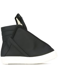 Rick Owens Drkshdw Oversized Tongue Hi Top Sneakers Black