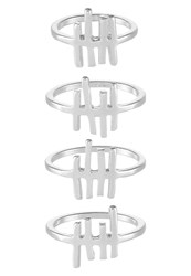 Cheap Monday 4 Pack Ring Rhodium Silver