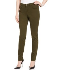 Styleandco. Style And Co. Curvy Fit Skinny Leg Colored Jeans Only At Macy's Evening Olive