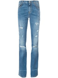 Ermanno Scervino Embroidered Flared Jeans Blue