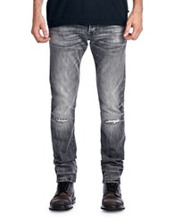 Cult Of Individuality Greaser Slim Straight Jeans Grey
