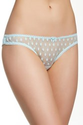 Mimi Holliday Peacock Cutout Brief Blue