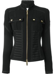 Dsquared2 Zip Up Military Bustier Jacket Black