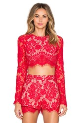 The Jetset Diaries Piazza Crop Top Red