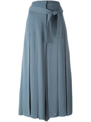 Valentino Pleated Palazzo Pants Blue