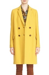 Lafayette 148 New York Women's 'Gianna' Double Breasted Long Wool Blend Coat