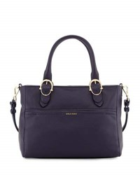 Cole Haan Small Leather Tote Bag Night Sky