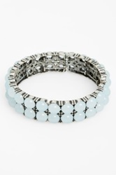 Spring Street 'Crystal Ball' Stretch Bracelet Blue