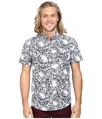 Vissla Los Flores Reverse Printed Short Sleeve Woven Black Men's Clothing
