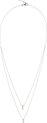 Maison Martin Margiela Fine Jewellery White Gold Crescent Diamond Solitaire Bisected Necklace