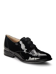 Nine West Almond Toe Lace Up Oxfords Black