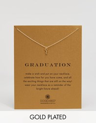 Dogeared Gold Plated Graduation Key Reminder Necklace Gold