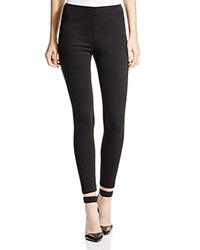 Lysse Stretch Denim Zip Leggings Black