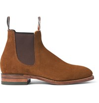 R.M. Williams Suede Chelsea Boots Brown