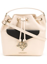 Love Moschino Detachable Strap Bucket Tote White